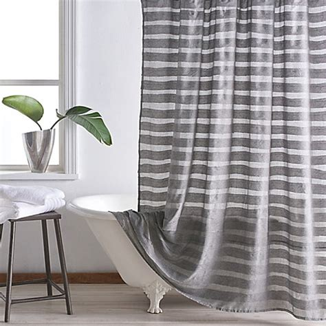 dkny shower curtain dkny loft stripe shower curtain bed bath beyond