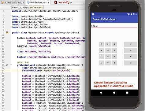 How To Make An Application by How To Create Simple Calculator Android App Using Android