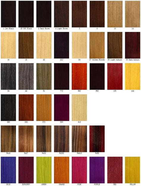 Different Hair Colour Names by Different Hair Color Chart Hair Color