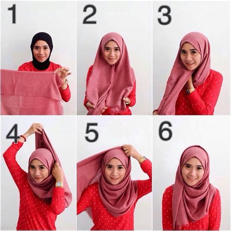 gambar tutorial hijab pashmina simple tutorial hijab