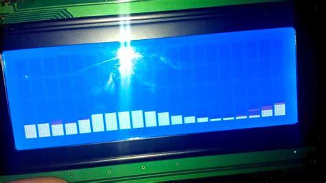 arduino lcd audio visualizer