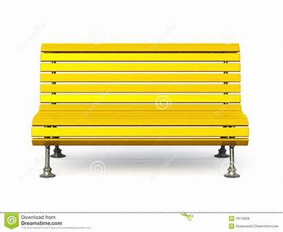 Bench Park Clipart Yellow Metal Wooden Background