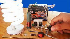 How To Make Fluorescent Lamp Adjustable Inverter Circuit