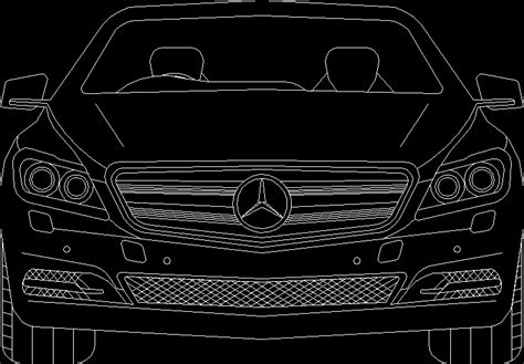 Mercedes Benz Car 2d Dwg Elevation For Autocad • Designs Cad