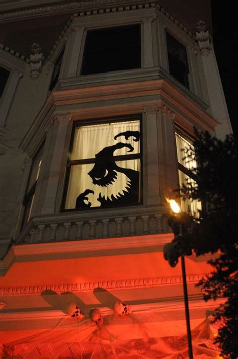 scary diy halloween window silhouettes homemydesign