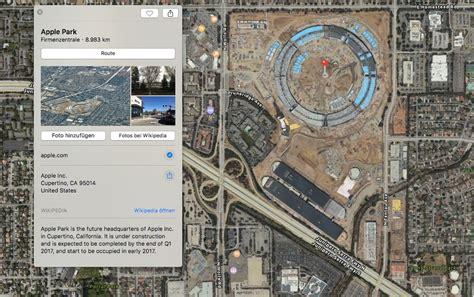 apple maps zeigt  satelliten bilder und weitere infos