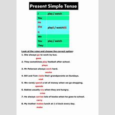 Present Simple Tense Present Simple Exercise