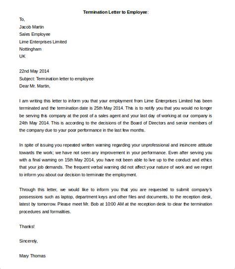 sle employment letter termination letter sle redundancy 28 images redundancy