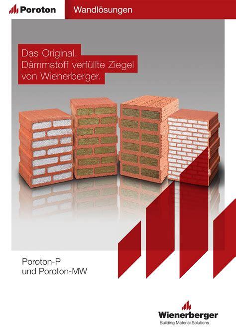 poroton ziegel maße brosch 252 re das original verf 252 llte ziegel wienerberger by wienerberger ag issuu