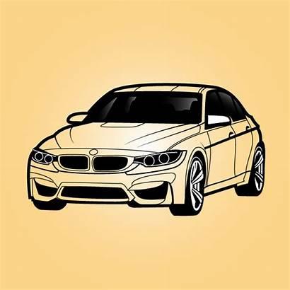 Bmw Clipart Sedan Vector Clip Outline Automotive