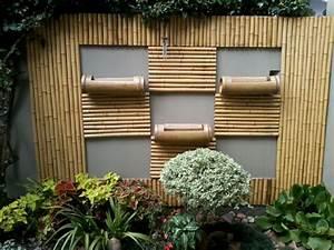 Wanddeko Für Den Garten : bambus deko ein exotisches flair f r den garten ~ A.2002-acura-tl-radio.info Haus und Dekorationen