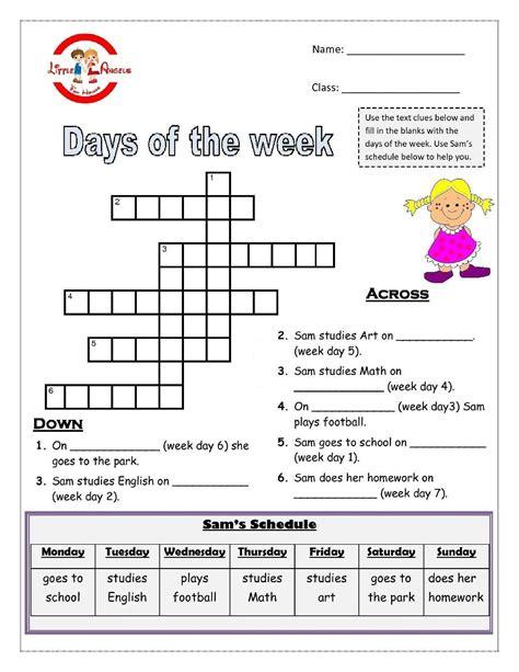 Days Of The Week Worksheet For Kids  Kiddo Shelter