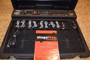 Skb Stage Five Pedalboard Black W  Cables And Manual