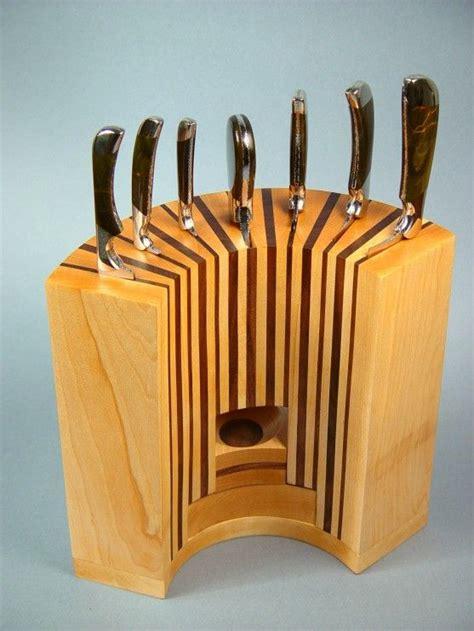 kitchen inspiring wooden knife block design ideas
