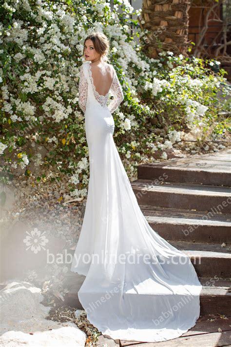 backless wedding dress lace lace wedding dresses sleeves sheer backless v neck