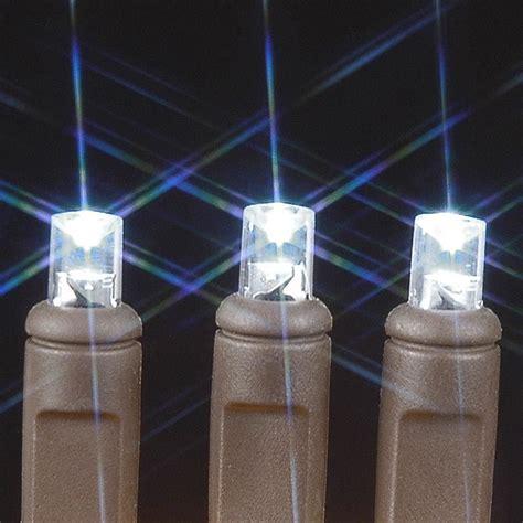 50 led christmas lights white brown wire wide angle pure white 50 bulb led christmas