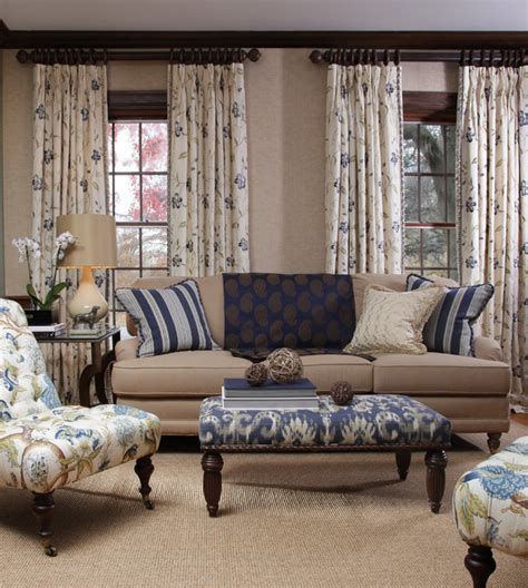 blue horizon fabric collection traditional living room