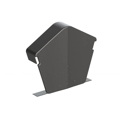 universal verge angled ridge end cap grey pack of 2