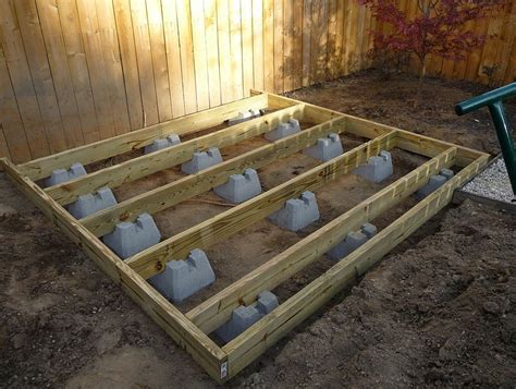 building  ground level deck  deck blocks outdoor