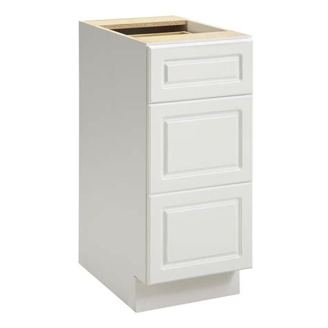 3 drawer kitchen cabinet ameriwood keystone 15 quot 3 drawer base cabinet in white 3856