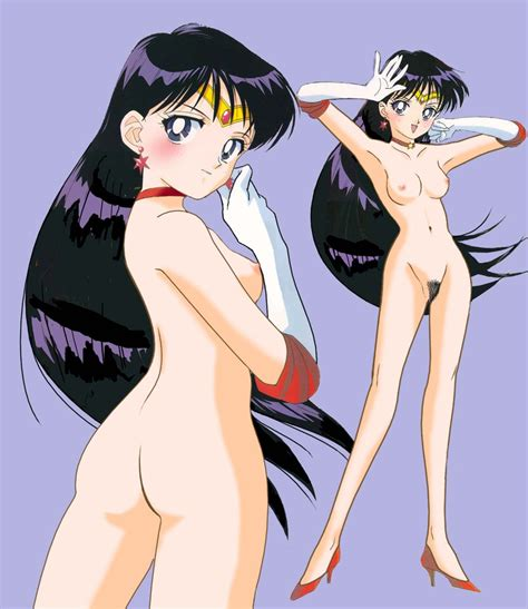 S Bishoujo Senshi Sailor Moon Hino Rei Nude Nude Filter Sailor Mars Simple Background Third
