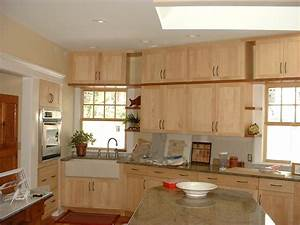 Natural Maple Shaker Cabinets Kitchen Remodeling NJ, NYC