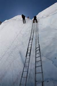 Climbing Mount Everest Ladders