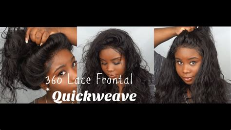 lace frontal pronto quickweave youtube