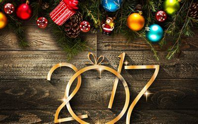 wallpapers happy new year 2017 wooden background