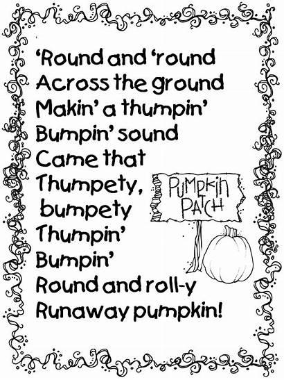 Pumpkin Runaway Poem Grade Poetry Poems Halloween