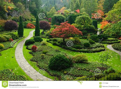 garden landscaping stock photo image of colors green