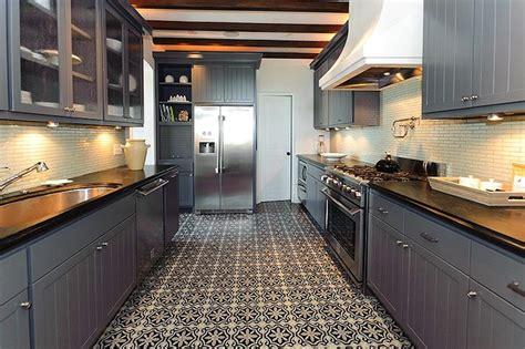 moroccan tile floor eclectic kitchen alys