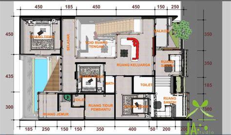 gambar denah rumah mewah minimalis modern terbaru informasi desain  tipe rumah