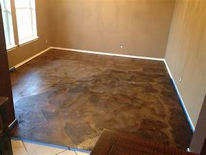 diy paper bag floors that look like stained concrete With paperbag floor