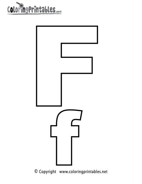 alphabet letter f coloring page a free english coloring