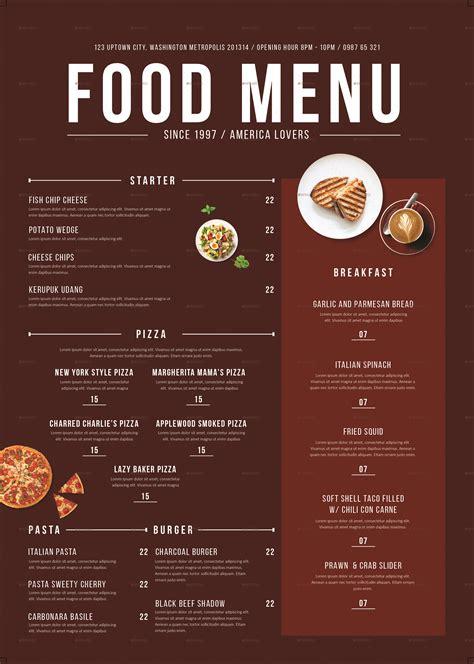carte cuisine modern food menu by tokosatsu graphicriver