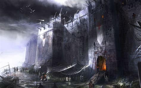 fantasy art digital art castle medieval wallpapers hd