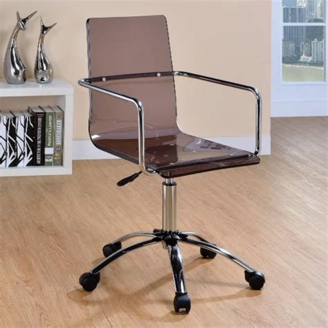 Acrylic Desk Chair On Casters by Finally Home