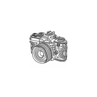 Coloring Colouring Pages Camera Adult Printable Adults