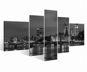 London Skyline Schwarz Weiß : leinwand 5 tlg london schwarz wei skyline stadt bilder druck wandbild 9a881 holz fertig ~ Watch28wear.com Haus und Dekorationen