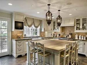 French country kitchen design ideas home and garden ideas for Kitchen cabinet trends 2018 combined with potterybarn wall art