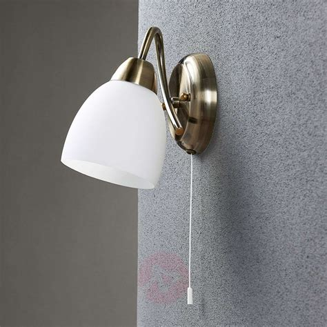 wall light mael with a pull switch lights co uk