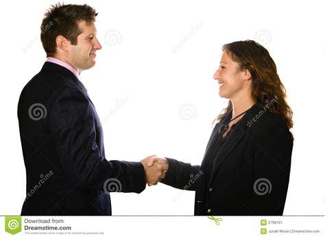 bureau homme d affaire homme et femme se serrant la image stock image 2798151