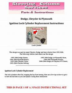 Dodge Chrysler Plymouth Ignition Lock Cylinder Replacement