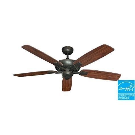 oil rubbed bronze ceiling fan troposair saturn 52 in oil rubbed bronze ceiling fan