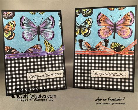 Stampin' Up Botanical Butterfly DSP #nancysniftynotes