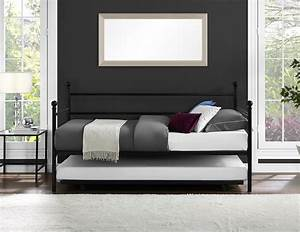 daybed with trundle twin size metal frame bed space saving With daybed with trundle for small spaces