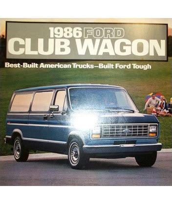 ford econoline club wagon sales brochure
