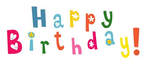 happy birthday letters png transparent multicolor