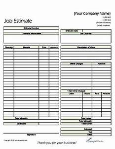 Estimate free prints classic and proposals for Written estimate template